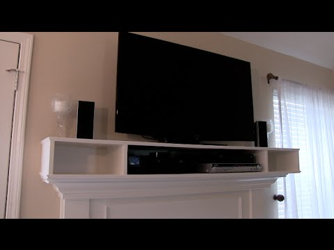 OVER MANTLE CABINET FOR TV COMPONENTS - HOW TO