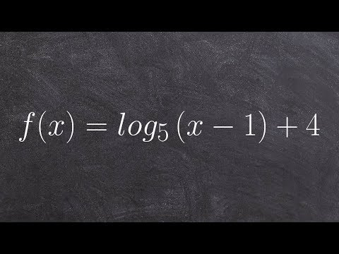 Graphing a logarithmic equation and finding the x intercept