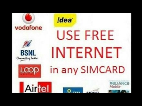Free unlimited internet on any sim 2G/3G/4G Speed