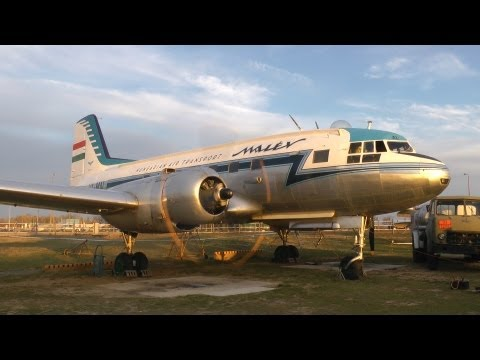 Ilyushin Il-14 engine test
