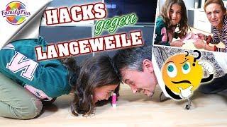 Download LIFE HACKS TIPPS gegen Langeweile -Was FRAUEN schaffen, MÄNNER nicht - Family Fun Video
