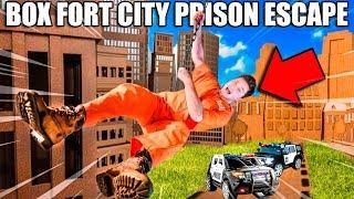 BOX FORT PRISON ESCAPE! Escaping BOX FORT CITY Challenge