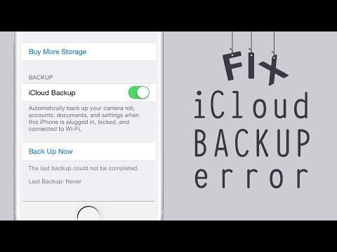 iCloud backup error fix