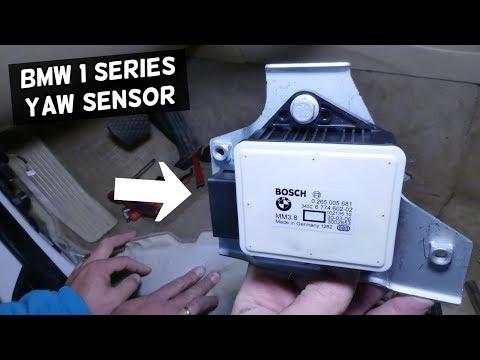 YAW RATE TRACTION CONTROL SENSOR LOCATION AND REPLACEMENT BMW E81 E82 E87 E88