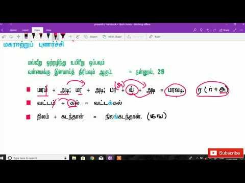தமிழ் இலக்கணம் - புணர்ச்சி part 2 by iGriv ias academy