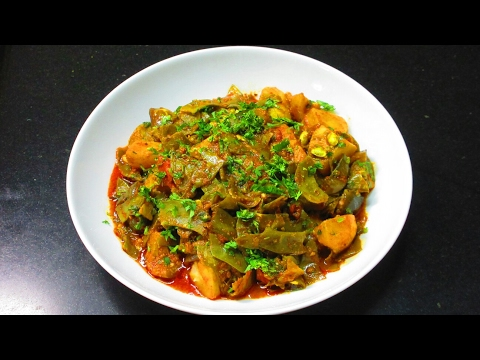 Papdi ki Sabzi - Saem Papdi ki Sabzi - Valor Papdi recipe - Flat Beans recipe - Papdi aur Aloo sabzi