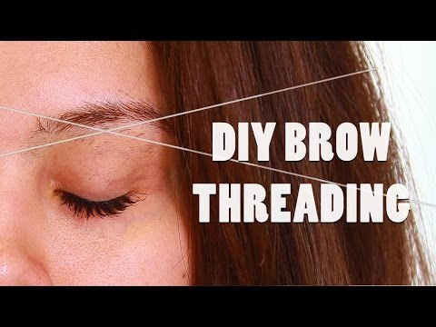 DIY BROW THREADING TUTORIAL: AT HOME SHAPING