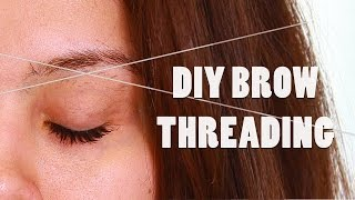 Diy Brow Threading Tutorial At Home Shaping