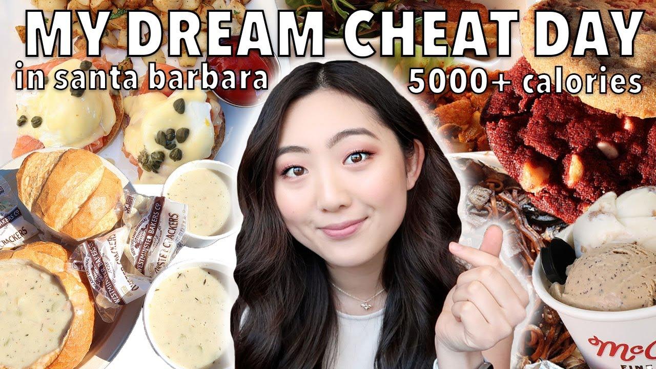 DREAM CHEAT DAY IN SANTA BARBARA (5000+ CALORIES) | 20k Celebration | Korean Food, Cookies, Burgers