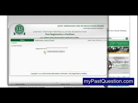 How to check JAMB Admission Status