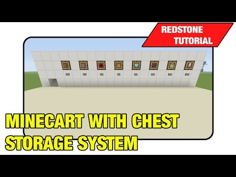 Minecart With Chest Storage System
