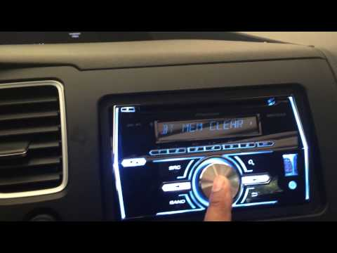 How to clear the Bluetooth memory and setup a new phone on a 2014 Pioneer radio and set clock.