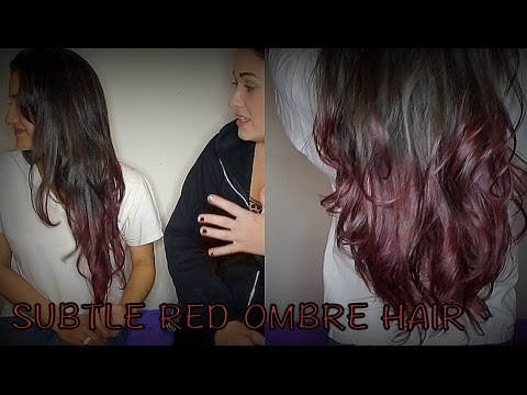 Subtle Red Ombre on Virgin Hair without bleach and with BLOOPERS! :D