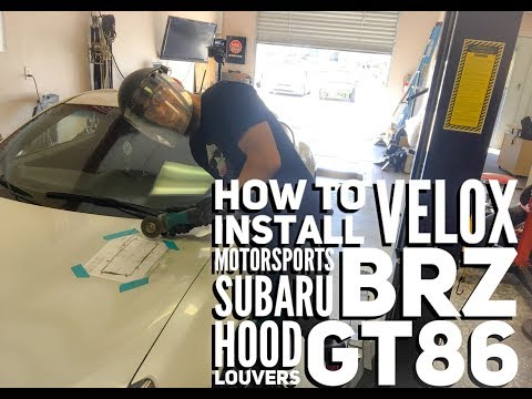 how to install velox motorsports hood louvers gt86 subaru brz
