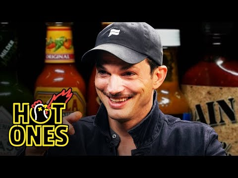 Xxx Mp4 Ashton Kutcher Gets An Endorphin Rush While Eating Spicy Wings Hot Ones 3gp Sex