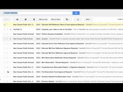 Unmark Spam in Gmail