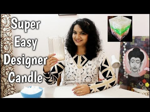 Super Easy Designer Candle Making |Scratch Candle | Chunk Candle | Layered Candle