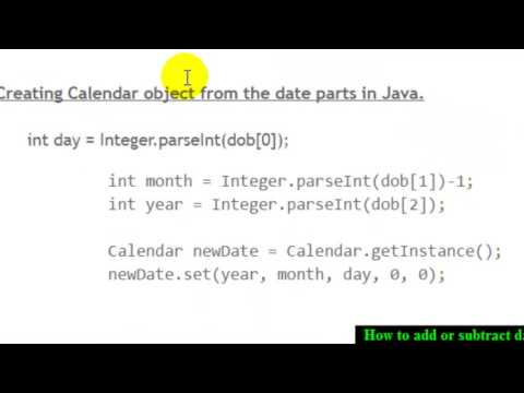 How to add or subtract date in Java