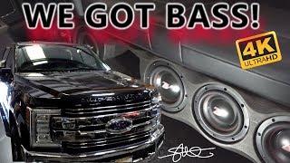 We Got BASS!  2017 Ford F250 Amp Rack + Six 6.5
