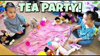 A Chic Tea Party with 3 Year Old Twins - January 21, 2018 -  ItsJudysLife Vlogs