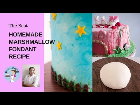 The BEST Homemade Marshmallow Fondant Recipe - Just 3 ingredients