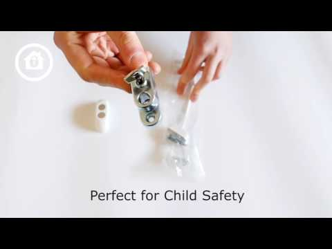 Child Safety Cable Restrictor for uPVC Windows