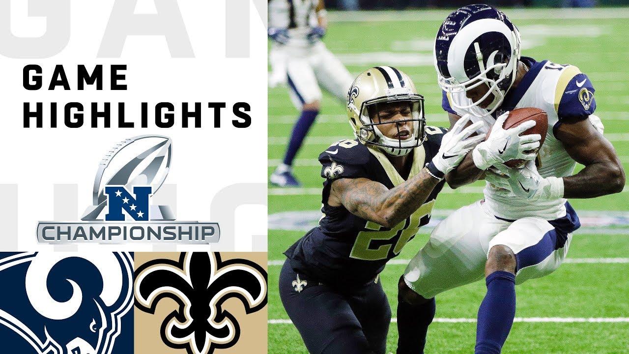 Rams vs. Saints NFC Championship Highlights   NFL 2018 Playoffs
