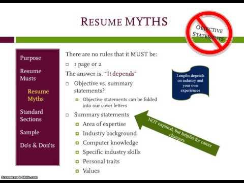 Resume Formatting for Undergraduate Students