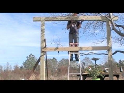 Building a Fancy Swing Pergola