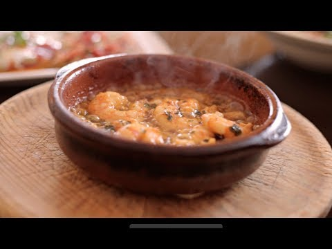 Mijas, Spain | Aroma Food Network // Gambas al Pil Pil, Andaluz Baby Bean Dish, Pizza y Pasta