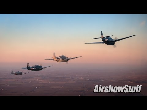 Six TBM Avengers Air to Air - Sunset Photo Flight