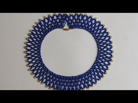 How To Make A Blue Gold Bead Necklace - DIY Style Tutorial - Guidecentral