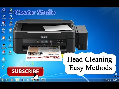 Epson L210 Clean   How to Head Cleaning