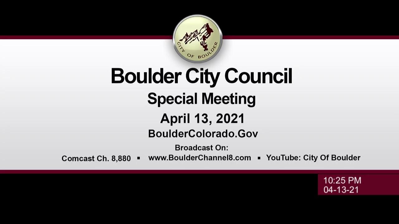 Boulder City Council Meeting 4-13-21