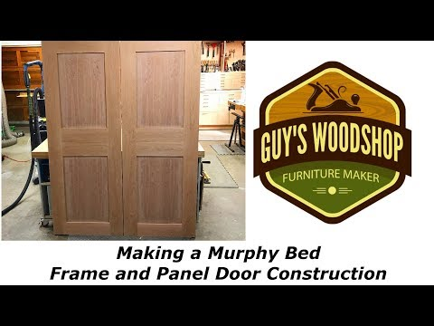 Frame and Panel Door Construction  - Murphy Bed Pt. 2 -  Woodworking How To