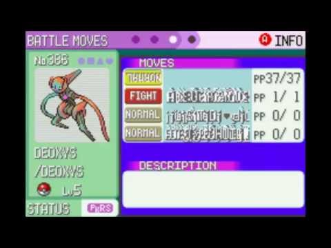 Pokemon Emerald Glitch - Obtain ANY Pokemon (Deoxys hatching shown) (Glitzer Popping)