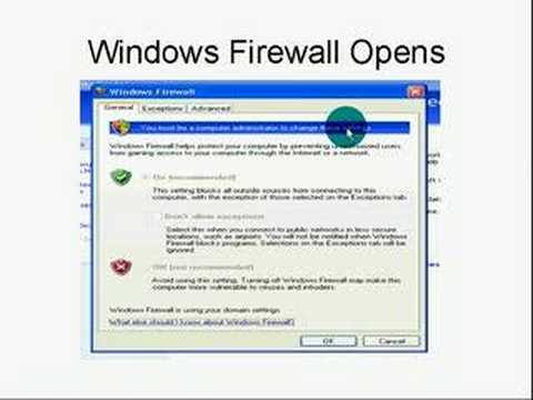 Activating Windows XP Firewall