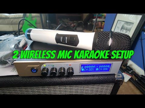 How to setup Wireless Microphone Mixer to Amp without Feedback