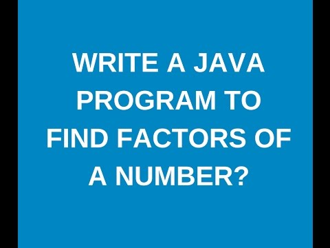 Write a java program to find factors of number from 1 to 100