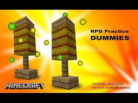 RPG Practice Dummies / XP Grinders in Minecraft