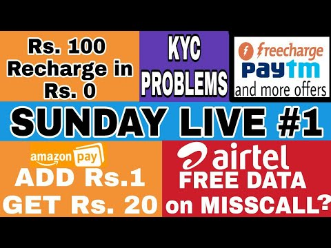 LIVE 3 : SUNDAY LIVE 1 : KYC Problems, offers etc. (Sorry for LowLight, nxt ll b bright) - V Talk