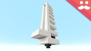 The Simplest PISTON ELEVATOR in Minecraft!