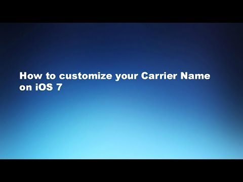 How to customize your Carrier Name on iOS 7 (iPhone/iPod)