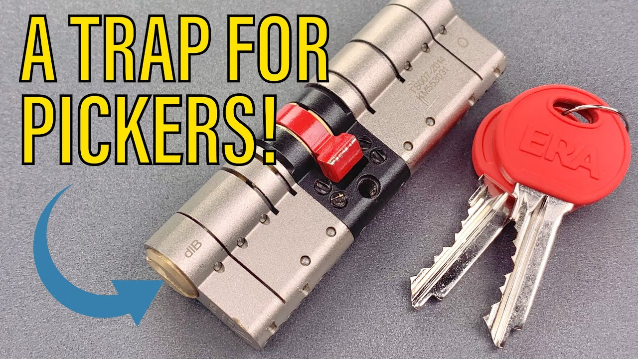 """[1256] ERA """"Fortress"""" Euro Cylinder Picked (6 Trap Pins!)"""