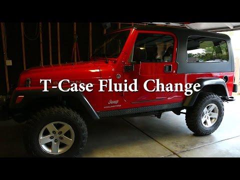 Jeep Transfer Case Fluid Change