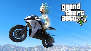 FASTEST BIKE IN THE WORLD !!! RICK AND MORTY GTA 5 MODS