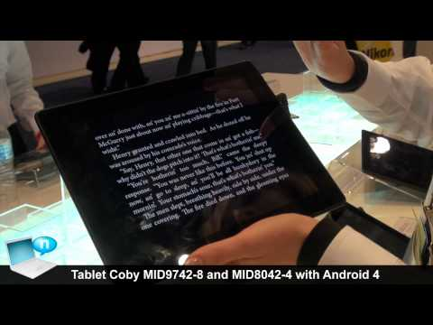 Tablet Coby Kyros MID9742-8 and MID8042 with Android 4 ICS