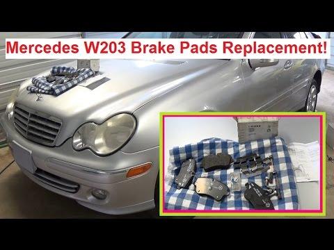 Mercedes W203 Front Brake Pads Replacement C180 C200 C230 C240 C270 C320