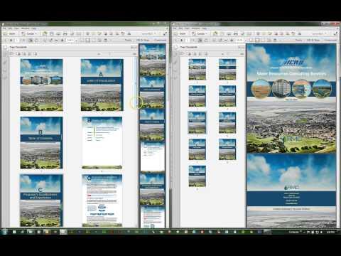 Adobe Acrobat XI: Insert, Rearrange or Delete Pages using Drag-n-Drop