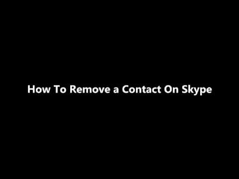 How To Remove a Contact On Skype